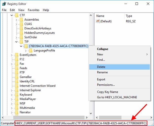 Reset CTF Registry Key on Windows 10 | PinyinTones